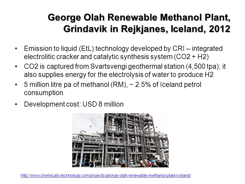 George Olah Renewable Methanol Plant, Grindavik in Rejkjanes, Iceland, 2012