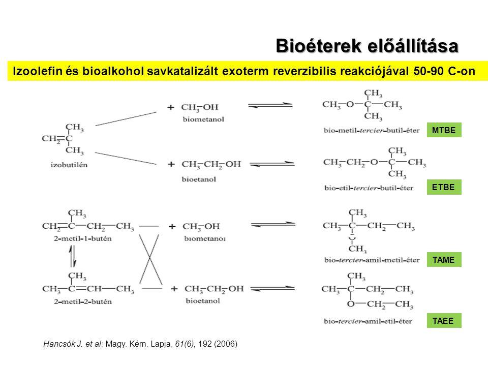 Bioéterek előállítása