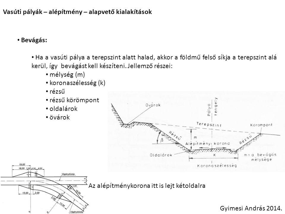 Vasúti pályák – alépítmény – alapvető kialakítások