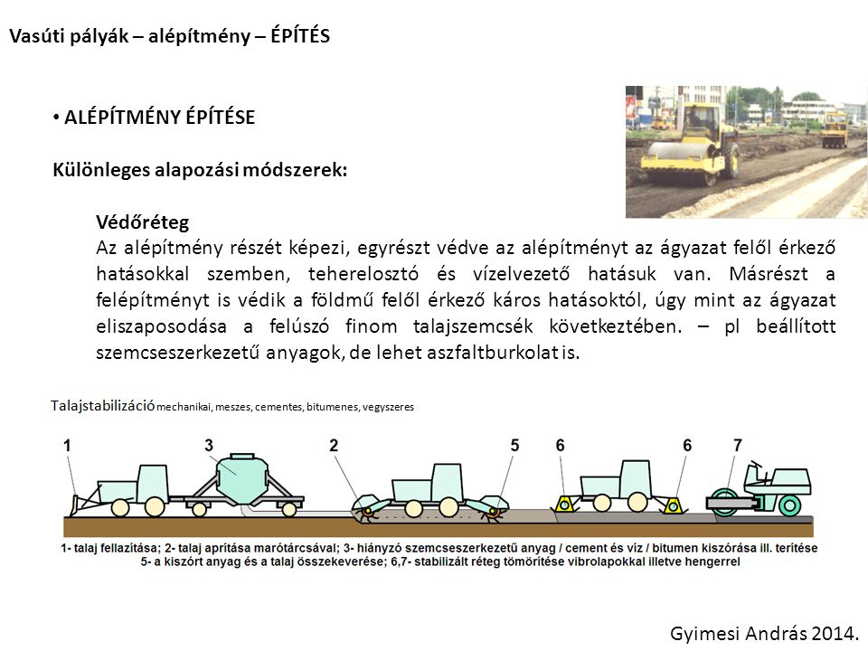Vasúti pályák – alépítmény – ÉPÍTÉS