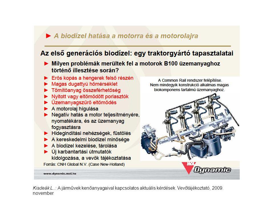 Kisdeák L. : A járművek kenőanyagaival kapcsolatos aktuális kérdések
