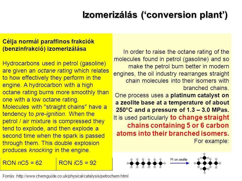 Izomerizálás ('conversion plant')