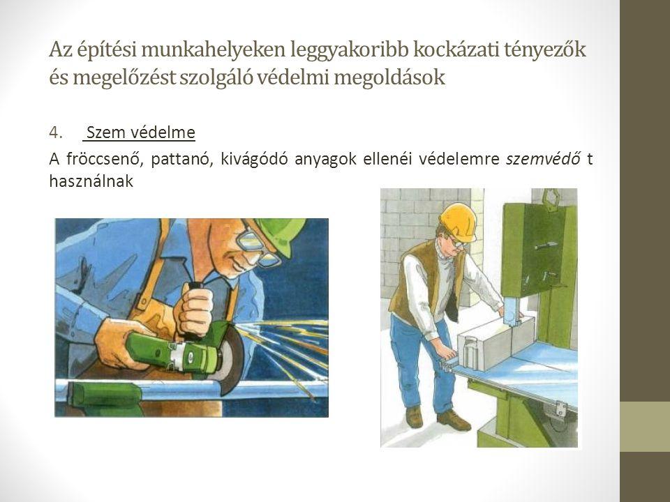 Az építési munkahelyeken leggyakoribb kockázati tényezők és megelőzést szolgáló védelmi megoldások