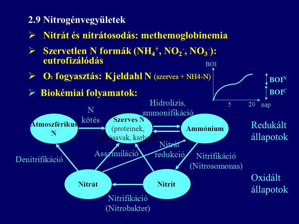 Nitrát és nitrátosodás: methemoglobinemia