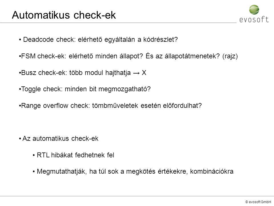 Automatikus check-ek Deadcode check: elérhető egyáltalán a kódrészlet