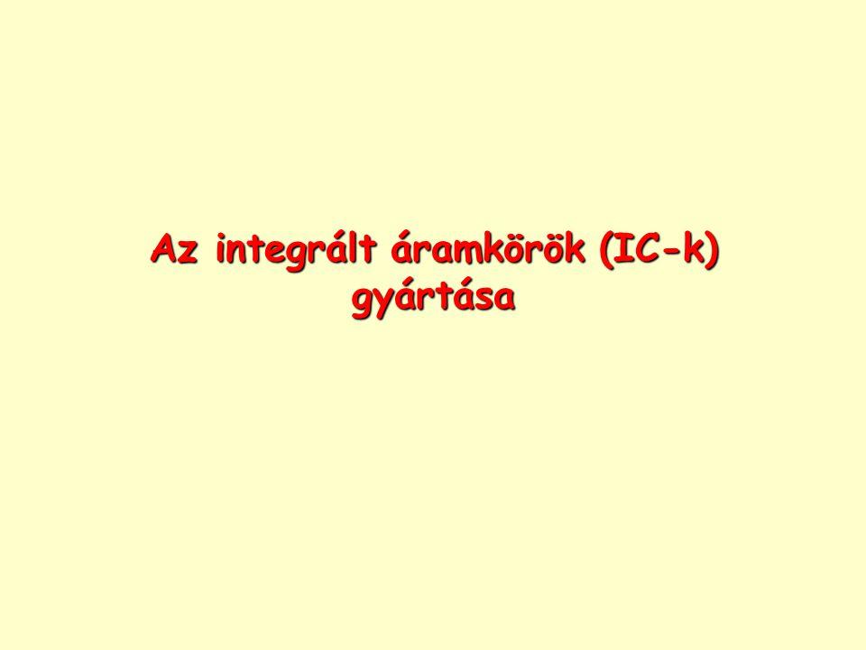 Az integrált áramkörök (IC-k) gyártása