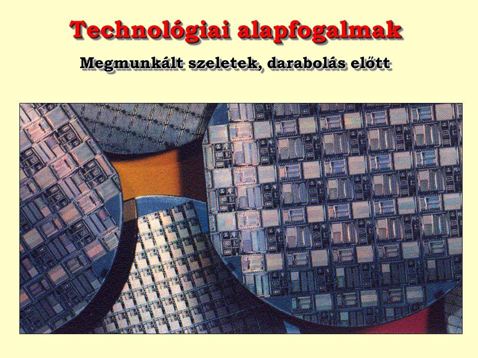 Technológiai alapfogalmak Megmunkált szeletek, darabolás előtt