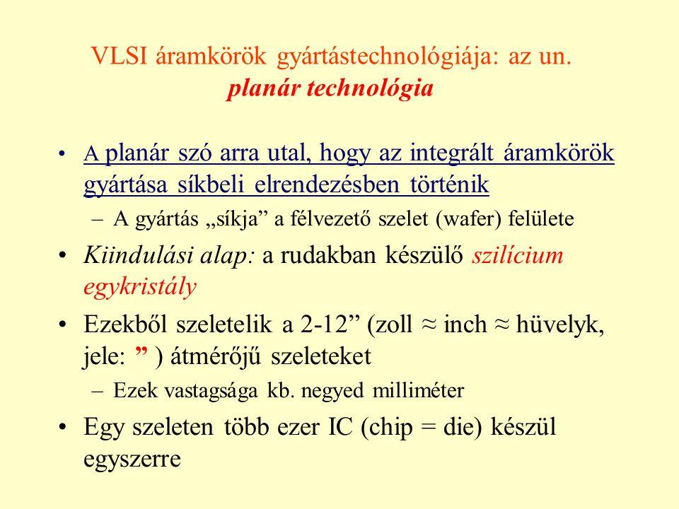 VLSI áramkörök gyártástechnológiája: az un. planár technológia
