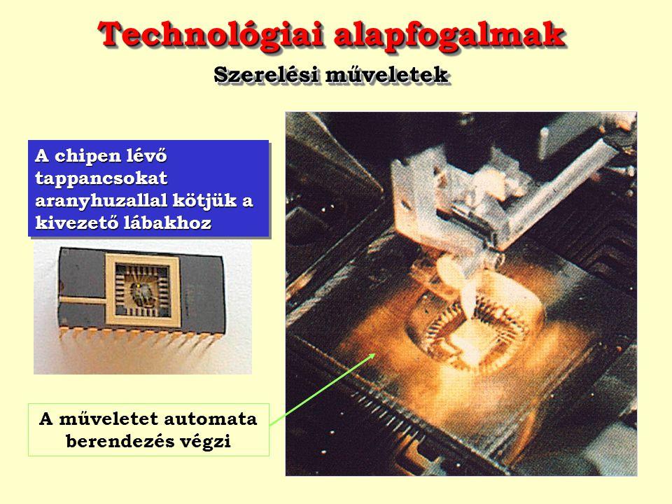Technológiai alapfogalmak A műveletet automata berendezés végzi