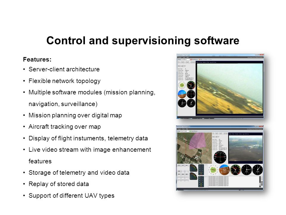 Control and supervisioning software