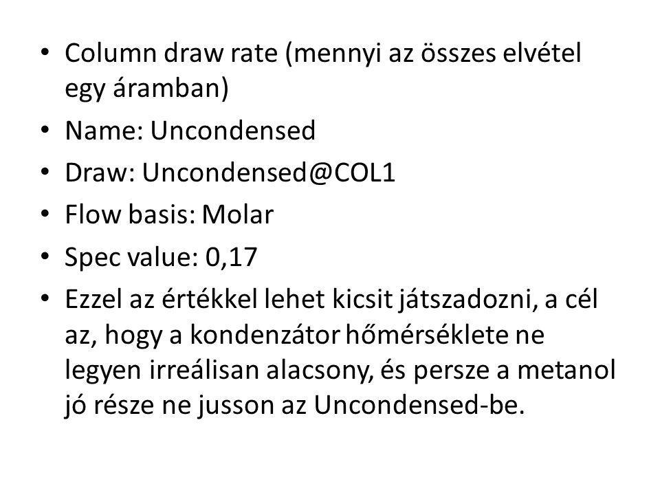 Column draw rate (mennyi az összes elvétel egy áramban)