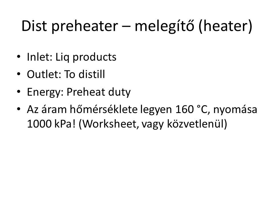 Dist preheater – melegítő (heater)