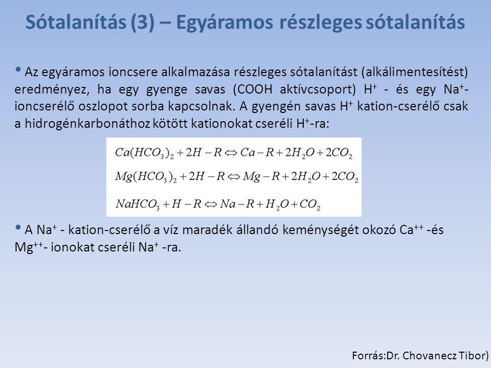 Sótalanítás (3) – Egyáramos részleges sótalanítás