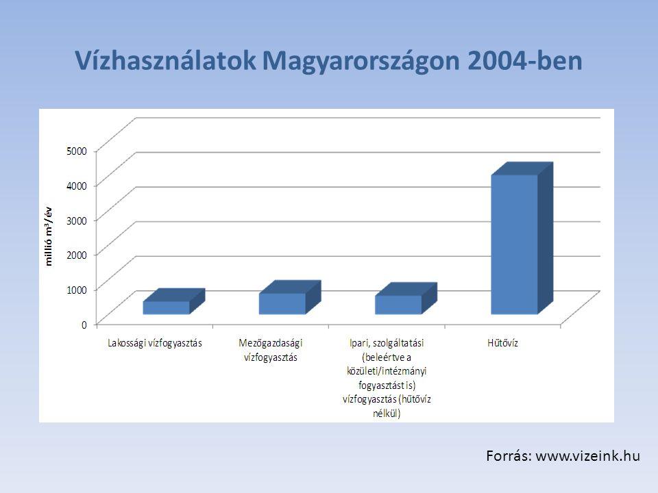 Vízhasználatok Magyarországon 2004-ben