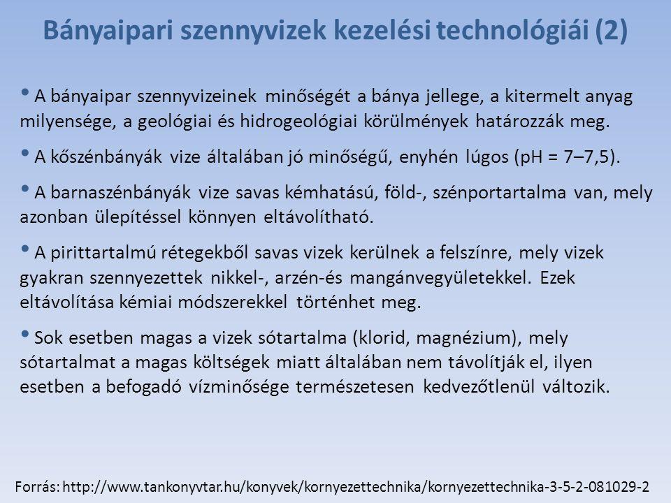 Bányaipari szennyvizek kezelési technológiái (2)