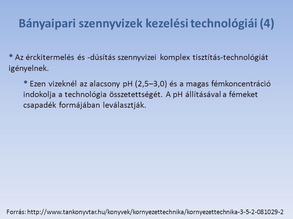 Bányaipari szennyvizek kezelési technológiái (4)