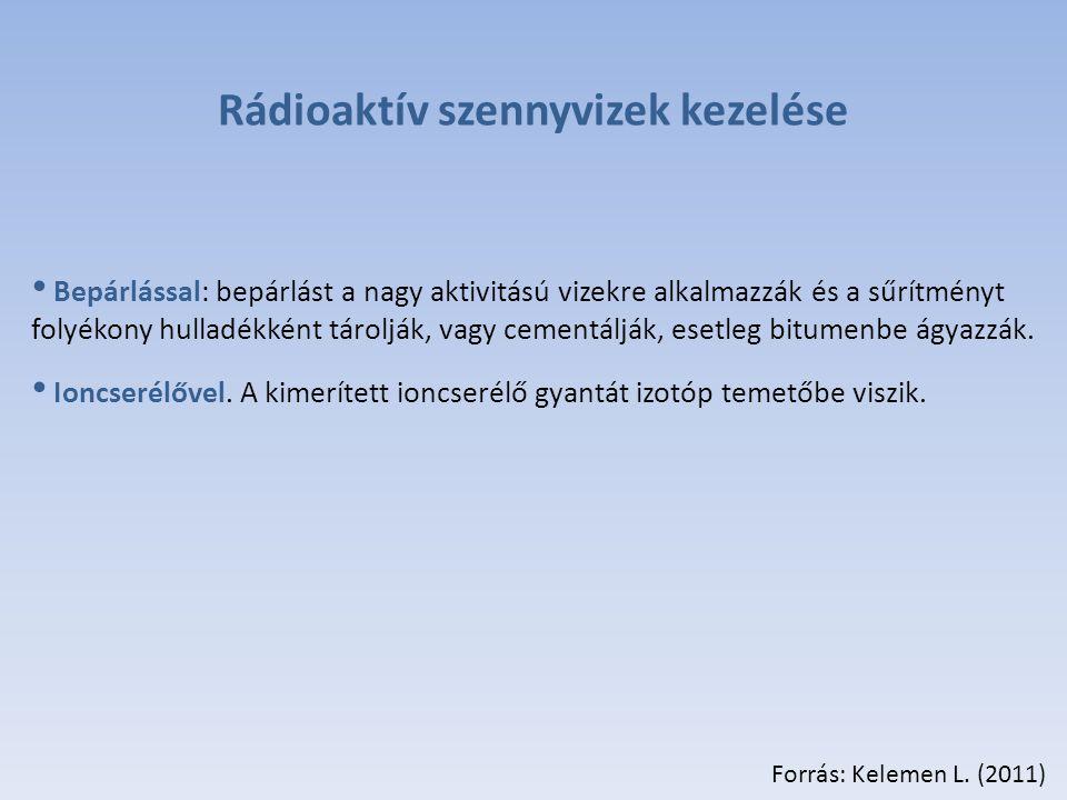 Rádioaktív szennyvizek kezelése