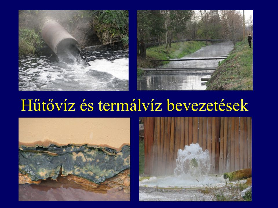 Hűtővíz és termálvíz bevezetések