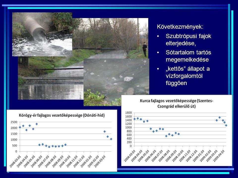 Következmények: Szubtrópusi fajok elterjedése, Sótartalom tartós megemelkedése.