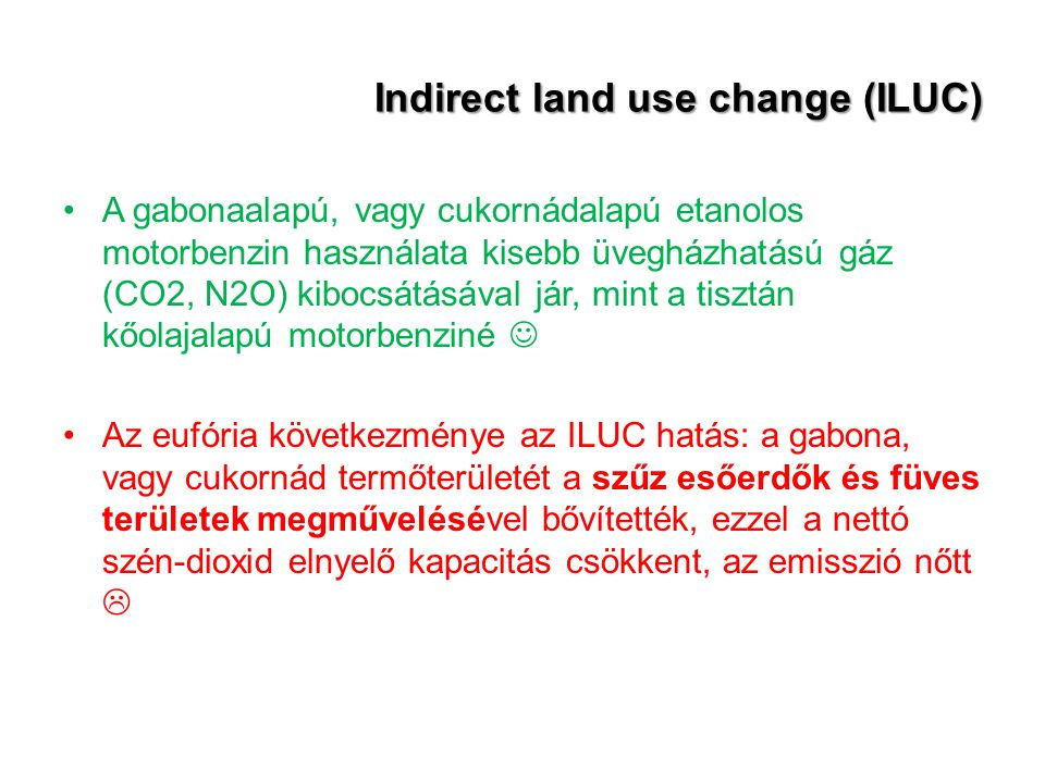 Indirect land use change (ILUC)