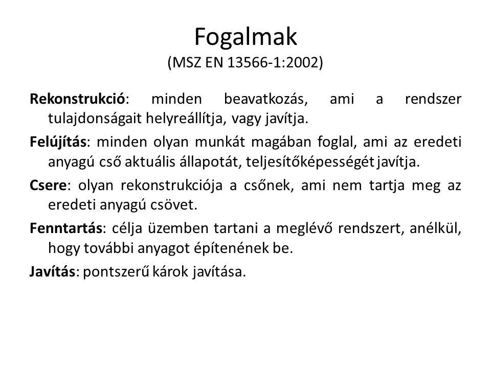 Fogalmak (MSZ EN 13566-1:2002)