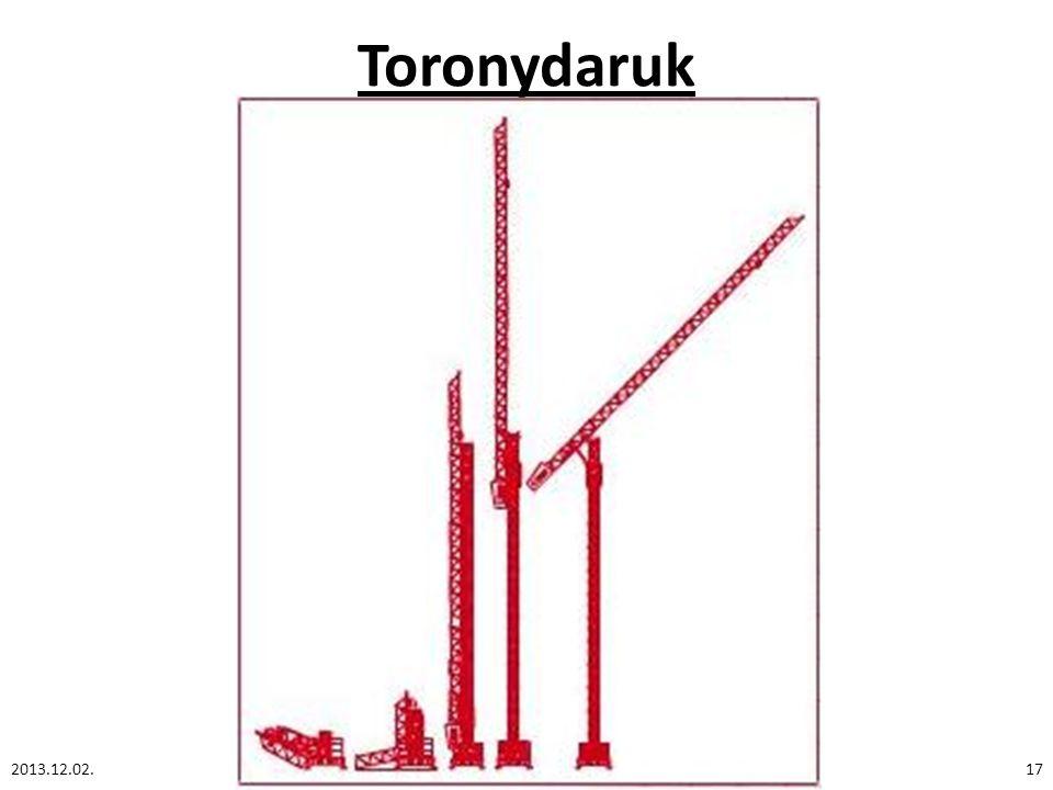 Toronydaruk 2013.12.02.