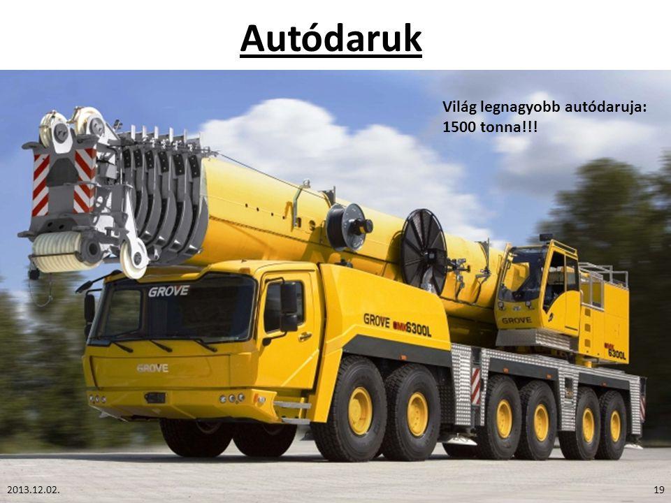 Autódaruk Világ legnagyobb autódaruja: 1500 tonna!!! 2013.12.02.