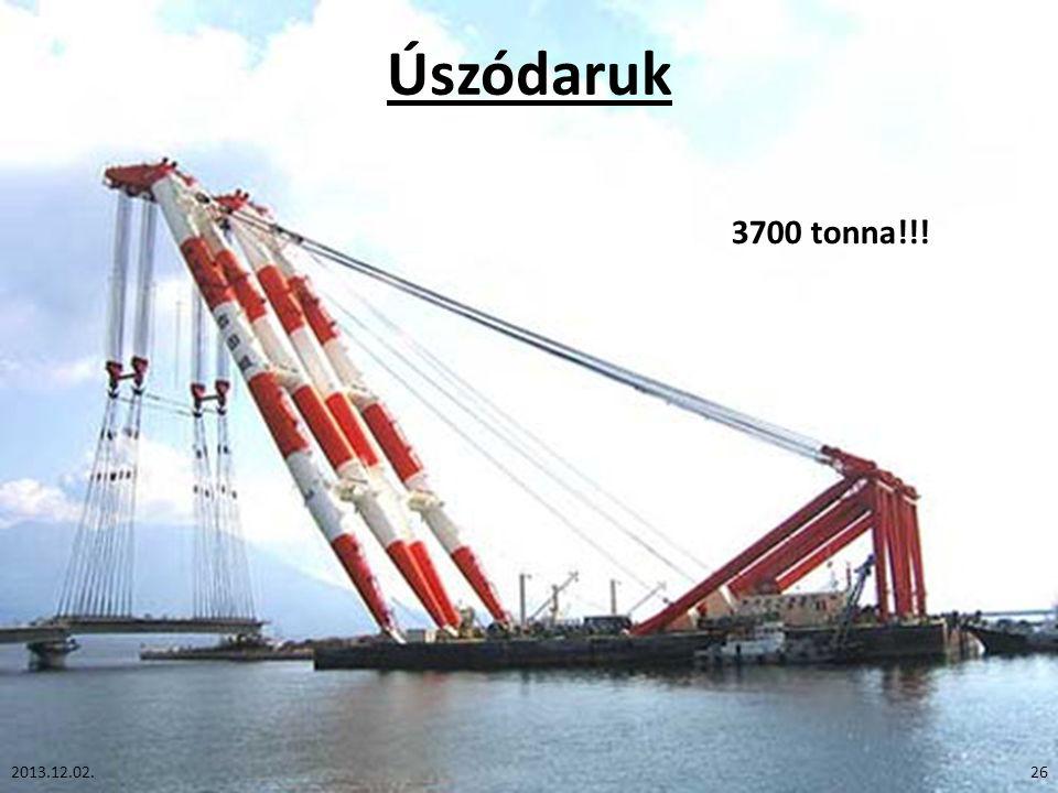 Úszódaruk 3700 tonna!!! 2013.12.02.