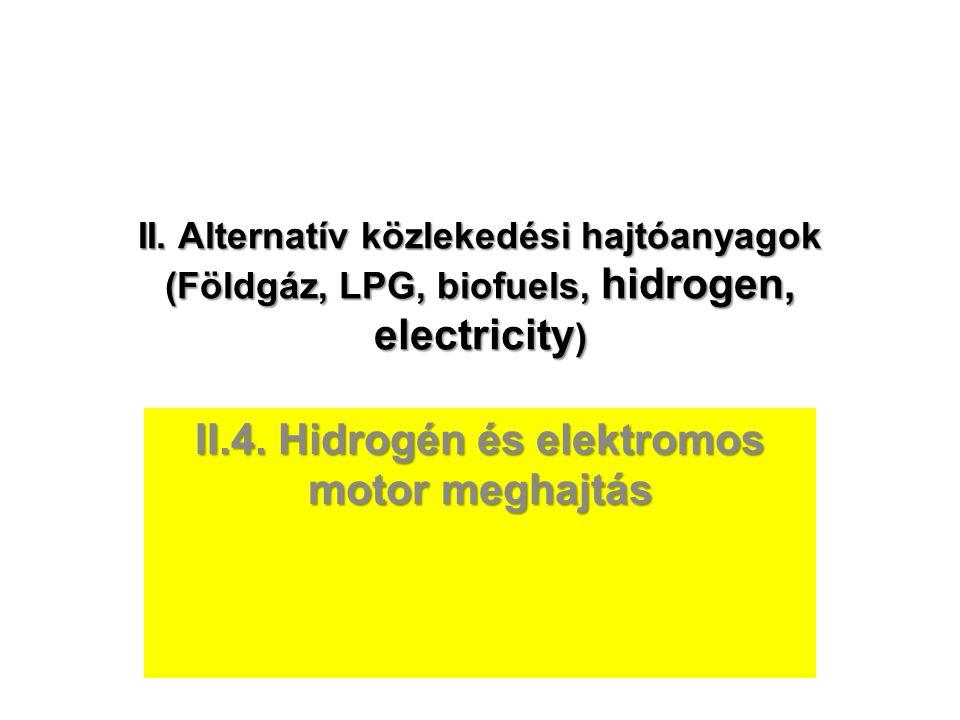 II.4. Hidrogén és elektromos motor meghajtás