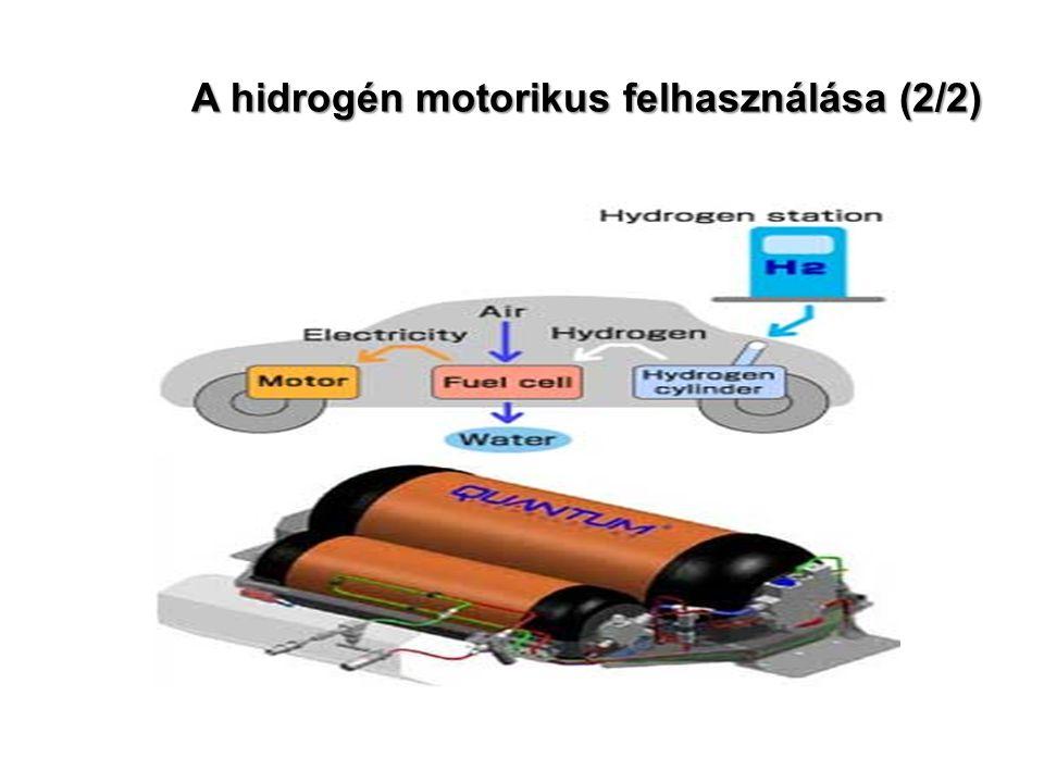 A hidrogén motorikus felhasználása (2/2)