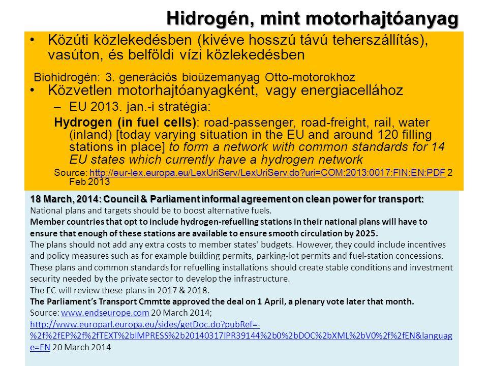 Hidrogén, mint motorhajtóanyag