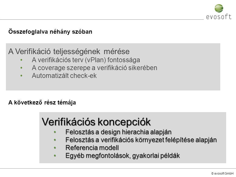 Verifikációs koncepciók