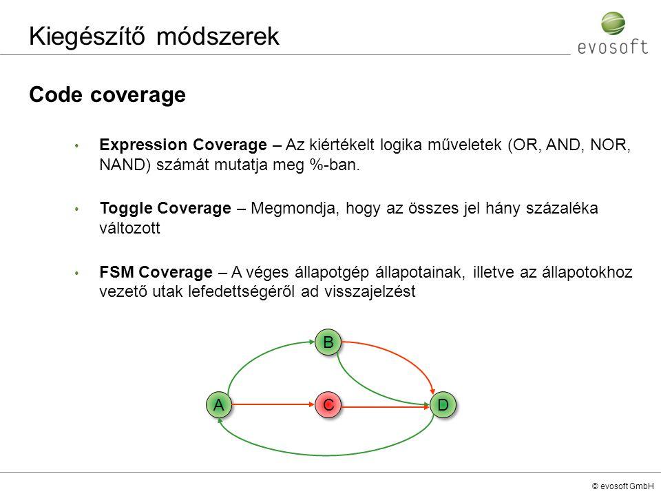 Kiegészítő módszerek Code coverage