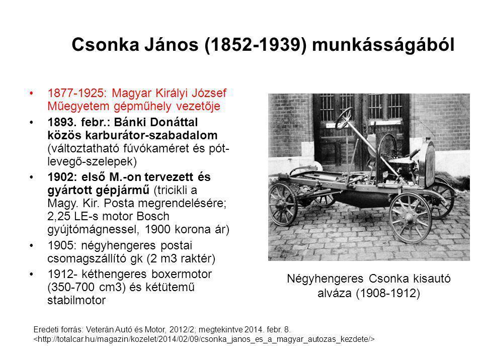 Csonka János (1852-1939) munkásságából