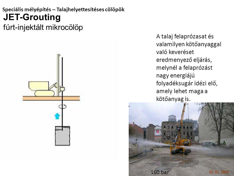 JET-Grouting fúrt-injektált mikrocölöp
