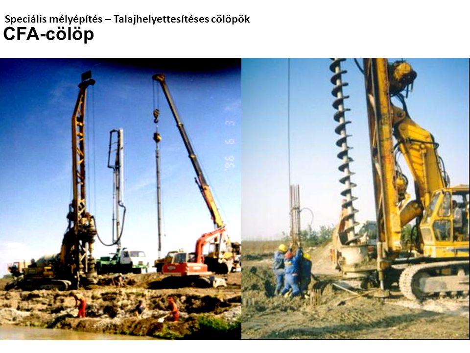Speciális mélyépítés – Talajhelyettesítéses cölöpök
