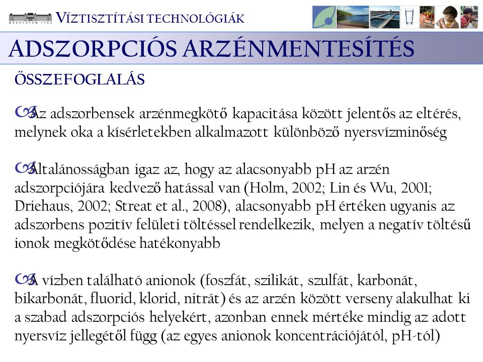 ADSZORPCIÓS ARZÉNMENTESÍTÉS