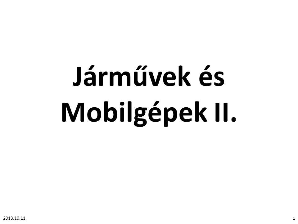 Járművek és Mobilgépek II.