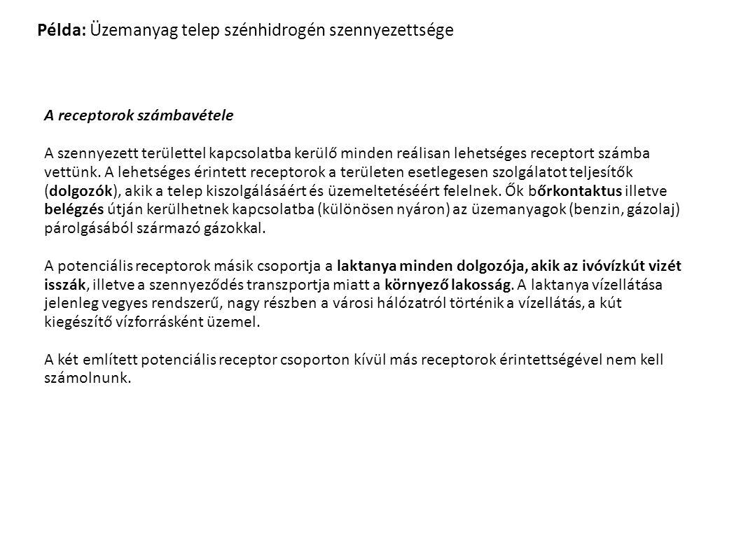 Példa: Üzemanyag telep szénhidrogén szennyezettsége