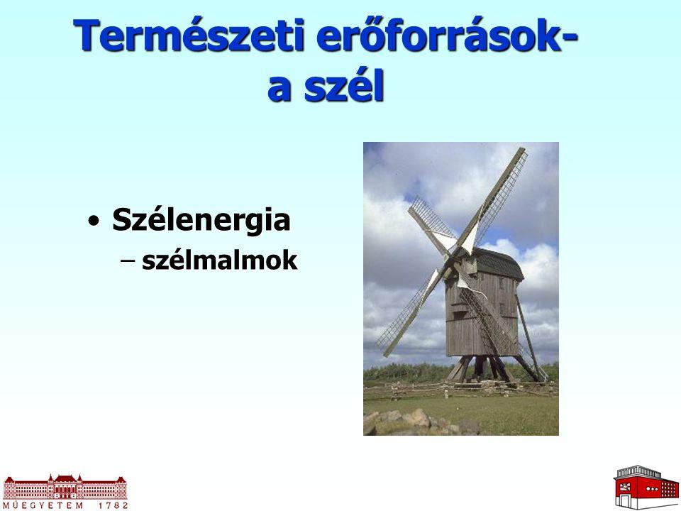 Természeti erőforrások- a szél