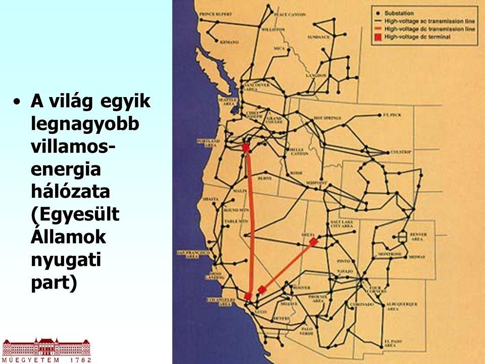A világ egyik legnagyobb villamos-energia hálózata (Egyesült Államok nyugati part)