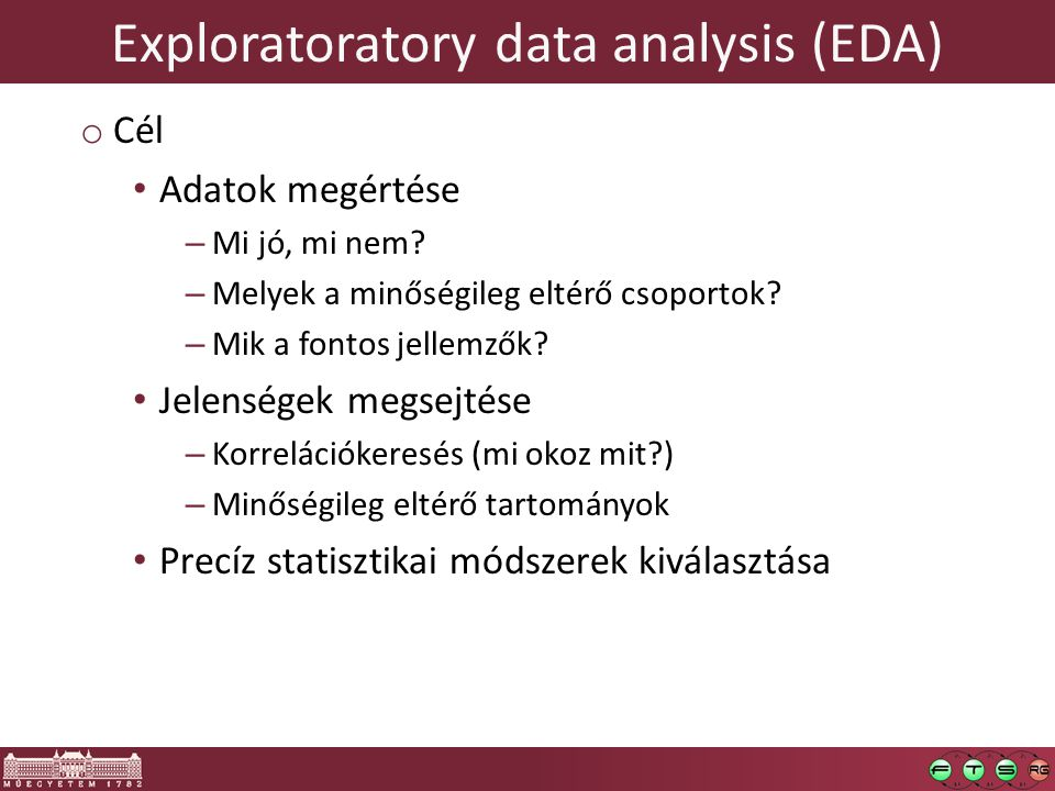 Exploratoratory data analysis (EDA)