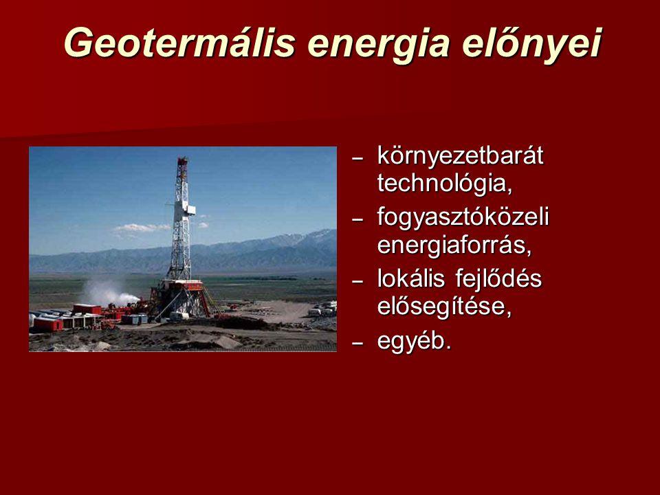 Geotermális energia előnyei
