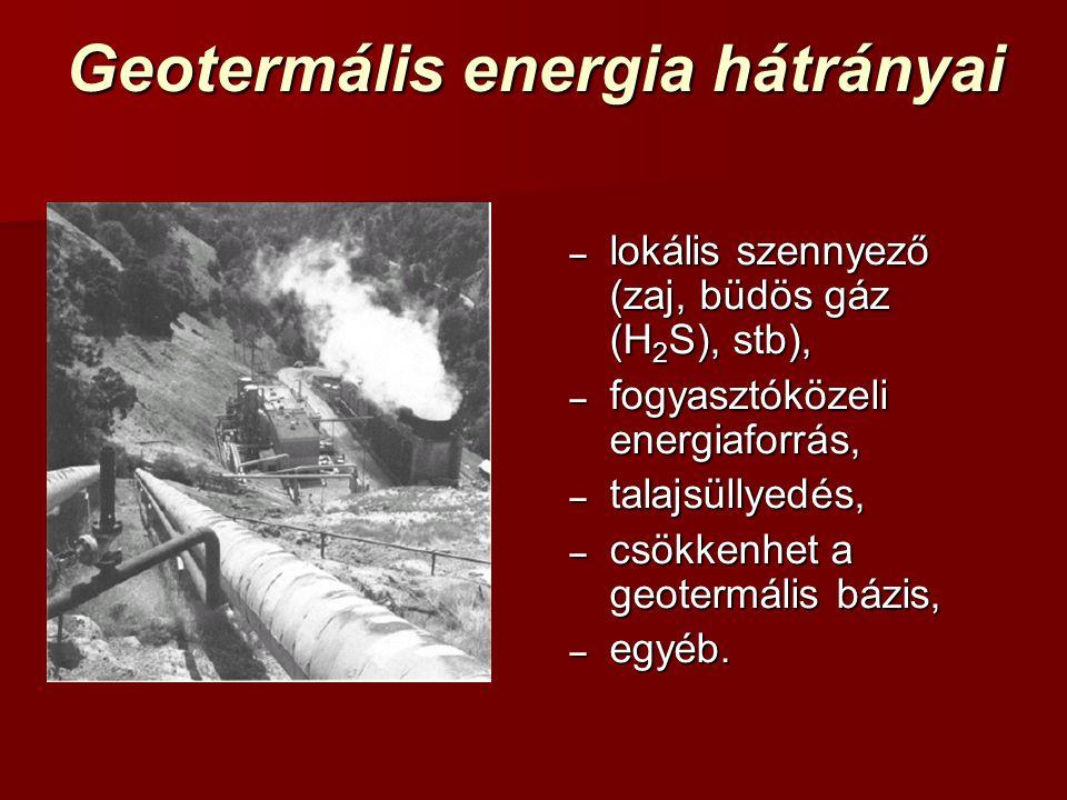 Geotermális energia hátrányai