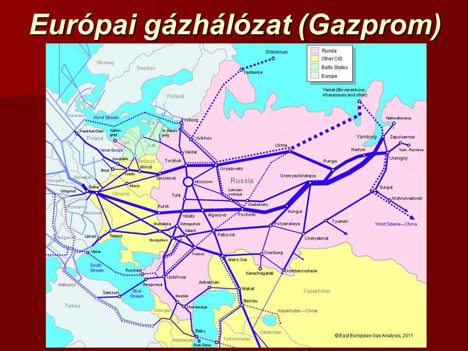 Európai gázhálózat (Gazprom)