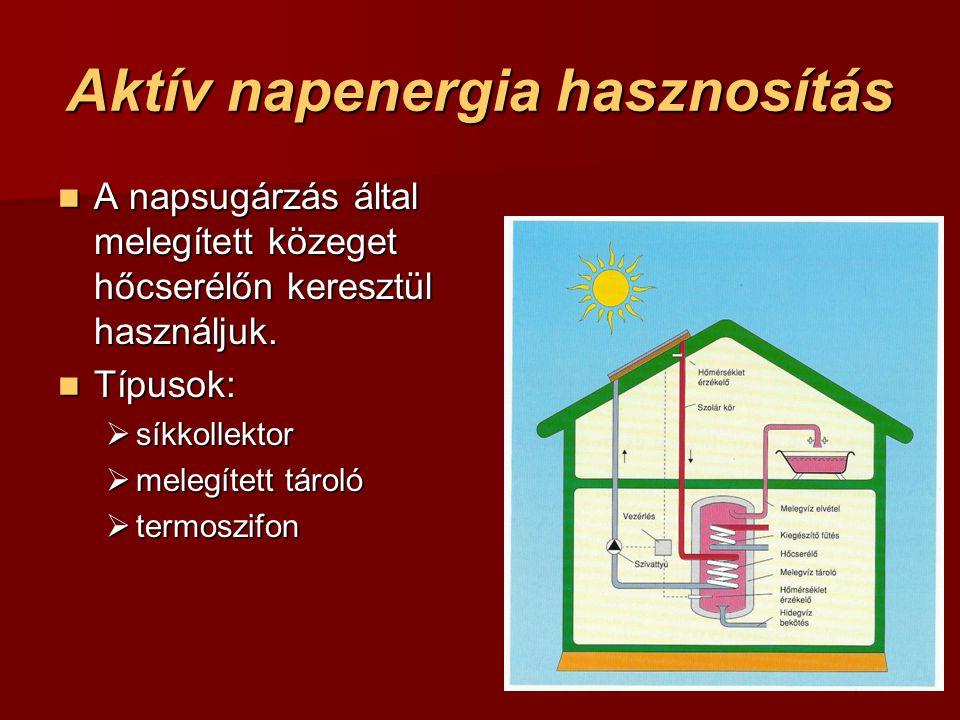 Aktív napenergia hasznosítás
