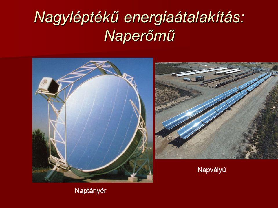 Nagyléptékű energiaátalakítás: Naperőmű