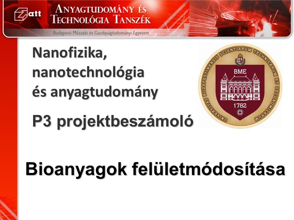 Nanofizika, nanotechnológia és anyagtudomány P3 projektbeszámoló