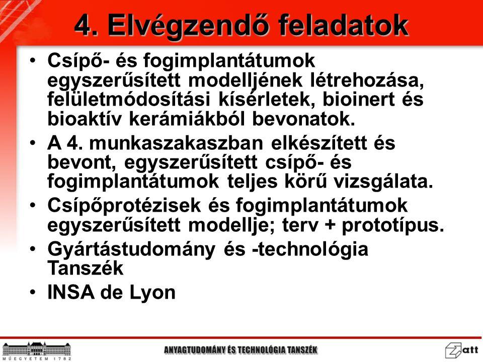 4. Elvégzendő feladatok