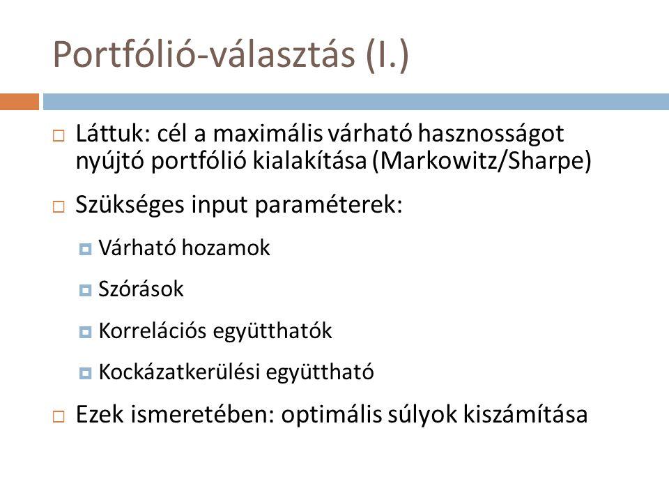 Portfólió-választás (I.)